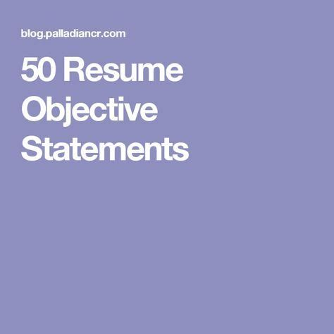 Resume tips and tricks objective